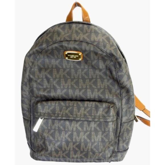 98f2923e848765 Michael Kors Bags | Large Logo Signature Jet Set Backpack | Poshmark
